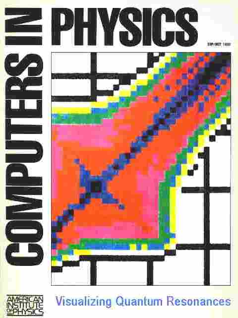 Quantum chaos article by Marshall Burns on cover of Computers in Physics, 1992